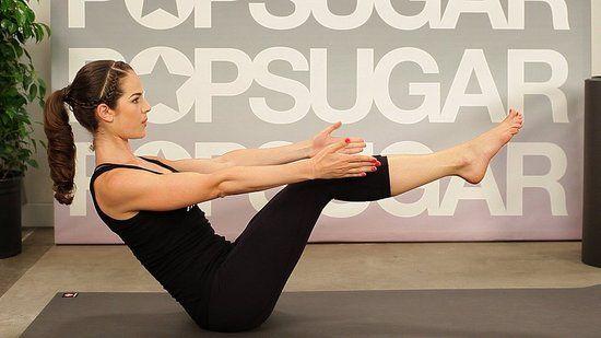 jennifer aniston yoga abs routine (3 moves)