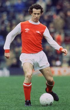 Liam Brady - one of the greatest Arsenal players wearing one of the greatest Arsenal kits.