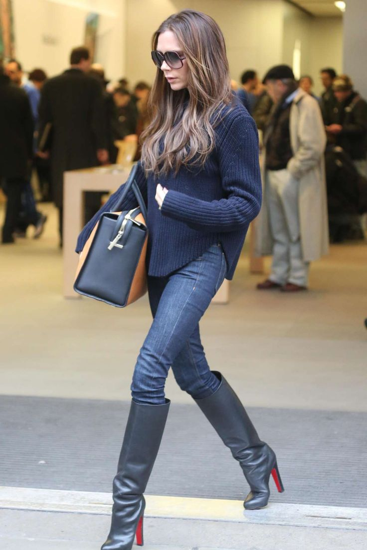 victoria beckham in jeans boots victoria beckham pinterest every day boots and victoria. Black Bedroom Furniture Sets. Home Design Ideas