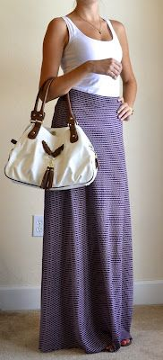 Outfit Posts: outfit post: white tank, purple maxi skirt