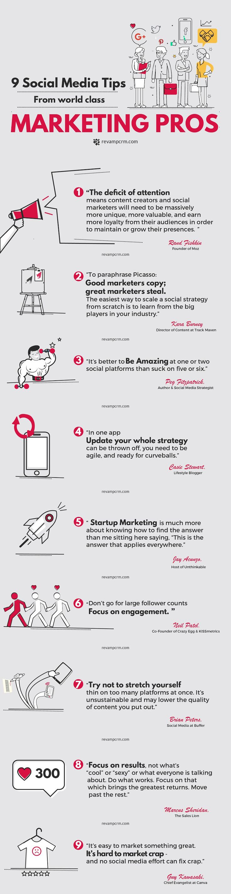 Social Media Marketing Tips Infographic