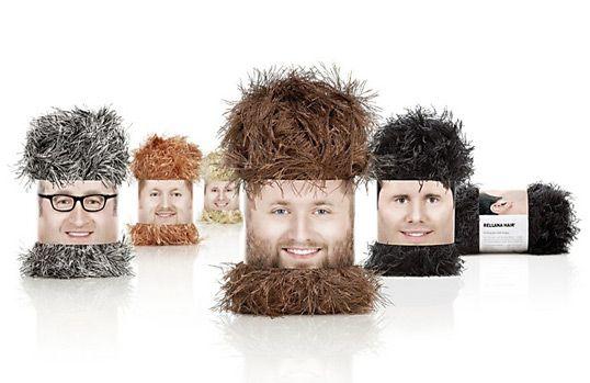 hilarious fringed wool packaging