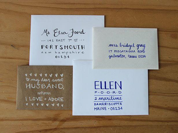 How To Hand-Letter An Envelope >> http://blog.diynetwork.com/maderemade/2014/05/30/how-to-hand-letter-an-envelope/?soc=pinterest