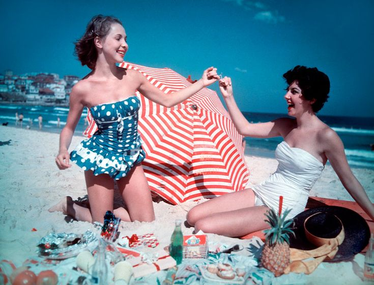 Christmas Party on Bondi Beach 1959, from the Australian National Archives