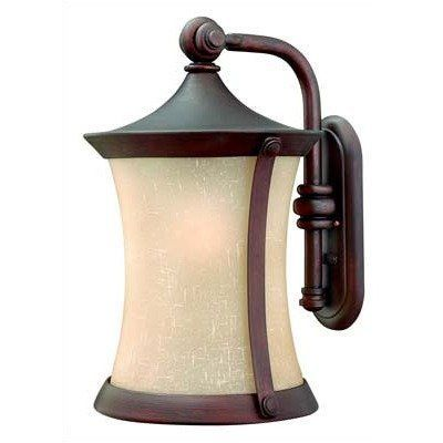 """Hinkley Lighting 1285VZ-DS Thistledown 20"""" Outdoor Dark Sky Wall Lantern by Hinkley Lighting. $379.00. 1285VZ-DS Features: -Outdoor wall lantern.-Amber linen seedy glass shades.-Dark sky solution compliant.-U.L. list certified for wet locations.-To top outlet: 11''. Color/Finish: -Hand-painted victorian bronze finish. Specifications: -Accommodates 1 x 100 watt medium base incandescent bulb (not included). Dimensions: -Backplate dimensions: 12'' H x 5'' W.-Overall dimensio..."""