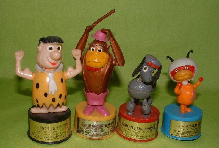 1960s Push Puppets Atom Ant MAGILLA Gorilla Fred Flintstone and Poodle | eBay