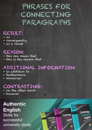 Academic Writing Top Tips: connecting paragraphs. By Cambridge University Press ELT