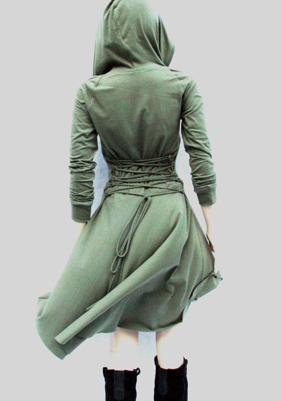 Robe / haut bas robe / Low haut robe / Sweats à capuche pour femmes /Hoodies / grise robe / robe de soirée / robes Casual