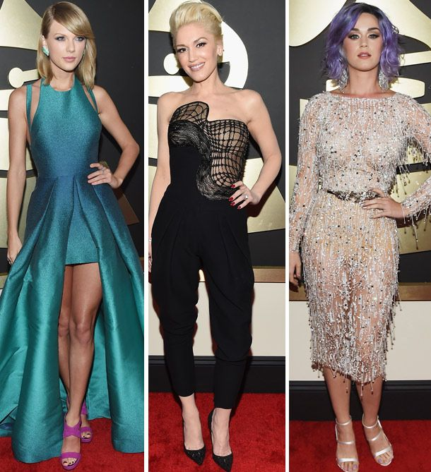 Taylor Swift, Gwen Stefani and Katy Perry all stunned on the Grammy's red carpet last night!   toofab.com