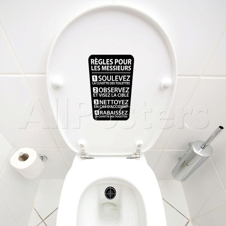 Les 25 meilleures id es de la cat gorie citations de salle de bains dr les sur pinterest - Object deco wc ...