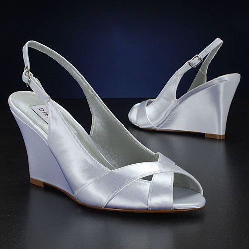 wedding shoes slingback wedge sandal custom colors pbd103b womens bridal wedge shoes