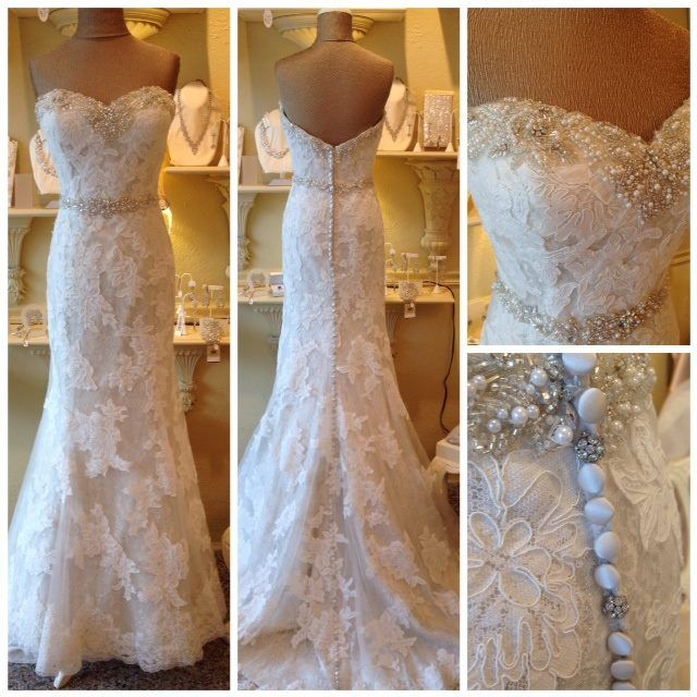 Justin Alexander 9720 Lace wedding dress with details
