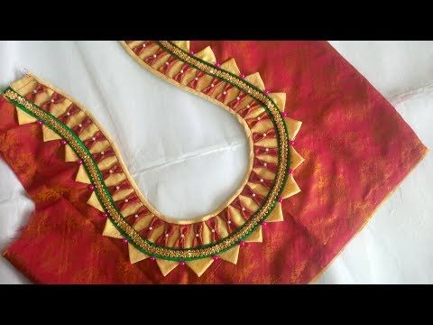 9609864024f353 very simple and beautyfull blouse back neck designe cutting and stitching  at home - YouTube