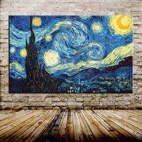 Noche estrellada De Vincent van Gogh Reproducción Hecha A Mano de Pintura Al Óleo Sobre Lienzo de Pared Imagen de Arte Para la Sala la Decoración Del Hogar