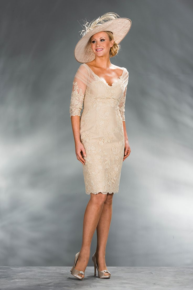 Gold short dress 1494 - Catherines of Partick