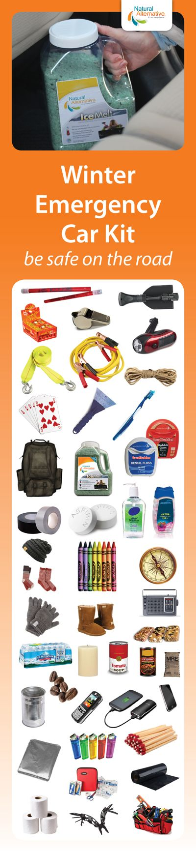 Winter weather can be unpredictable. Assemble this #Winter Emergency Car Kit and leave it in your car for peace of mind. #Preparedness
