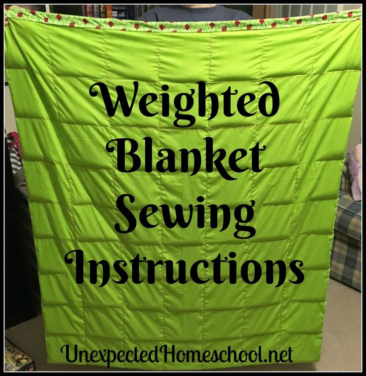 Sudden Homeschool: Weighted Blanket Stitching Directions