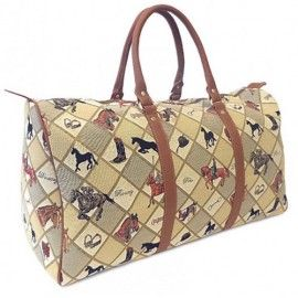 'Equestrian Sports' Tapestry Holdall bag