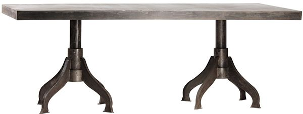 A beautiful modern-industrial table.