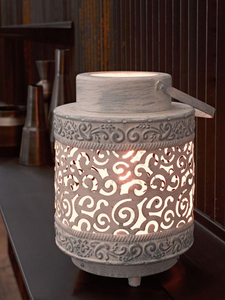 Eglo Lighting Vintage Collection / Talbot / Grey Moroccan Lantern Effect Table Lamp
