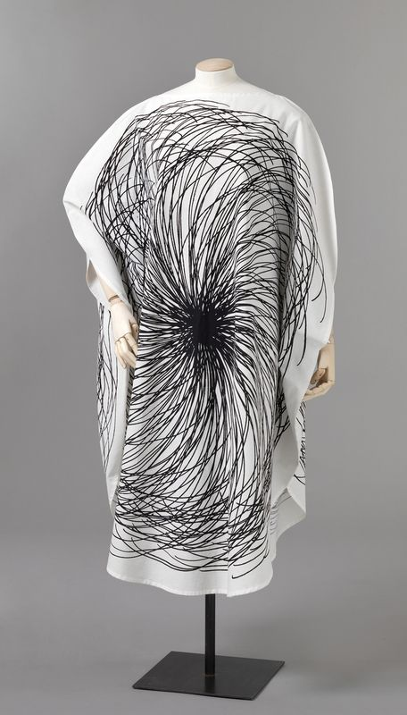 Graphic textile dress, Finland, 1964-65, by Vuokko Nurmesniemi for Vuokko Oy.