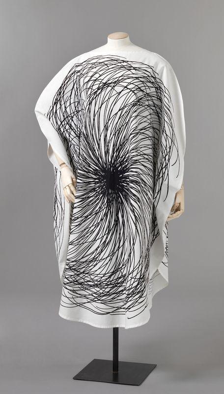 // Graphic textile dress, Finland, 1964-65, by Vuokko Nurmesniemi for Vuokko Oy.