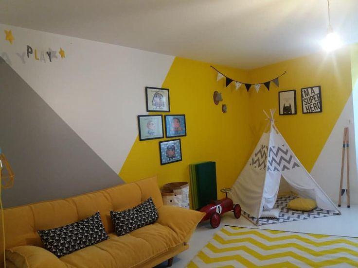 Noch einmal nach / vor unserem Spielzimmer …. wir haben immer noch die Idee des gelben Rea Guiloreza.avantapres.archideco beibehalten. .