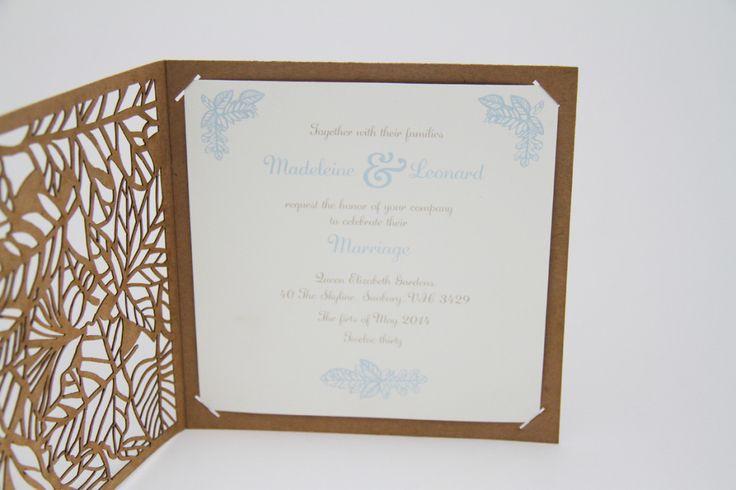 New Wedding Invitation Designs: New Designs – Laser Cut Fern