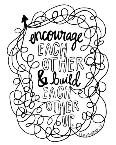 Encourage Each Other - 1 Thessalonians 5 11 | Coloring Canvas - Canvas On Demand