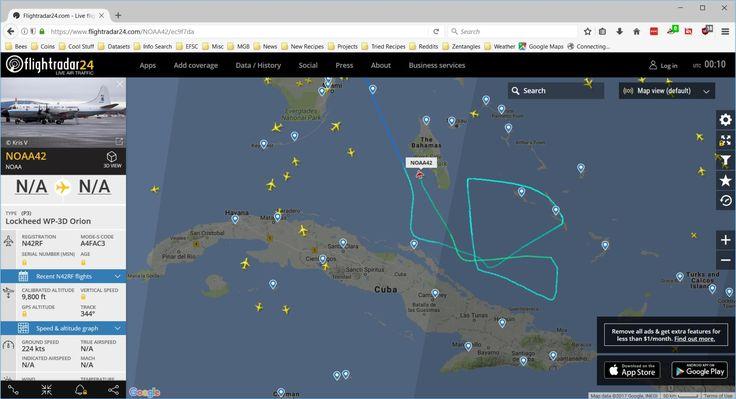 NOAA Hurricane Tracker Flight on Flightradar24