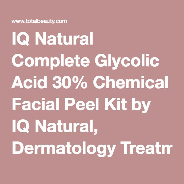 IQ Natural Complete Glycolic Acid 30% Chemical Facial Peel Kit by IQ Natural, Dermatology Treatments & Peels Review