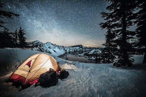 fuck-yeahcamping:  Crater Lake camp (By Ben_Coffman)
