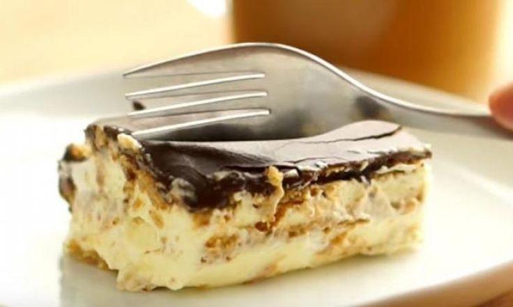 Un succulent gâteau éclair sans cuisson, quoi demander de mieux!