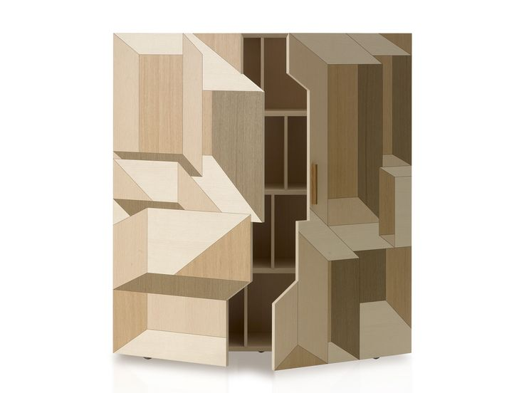 Wooden sideboard / chest of drawers INLAY by Porro design Front