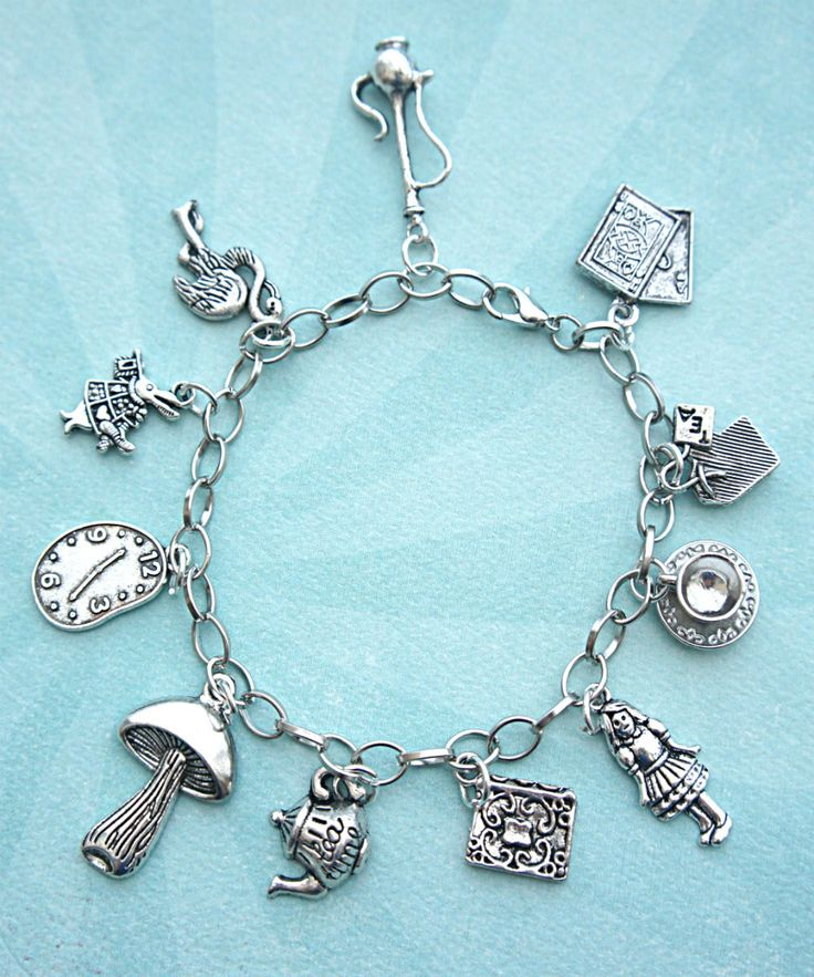 alice in wonderland inspired charm bracelet - Jillicious charms and accessories - 1