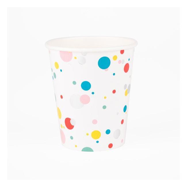Multicolor Bubbles Paper Cups - 8 pack