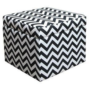 Find This Pin And More On The Dorm Life Target Chevron Storage Ottoman