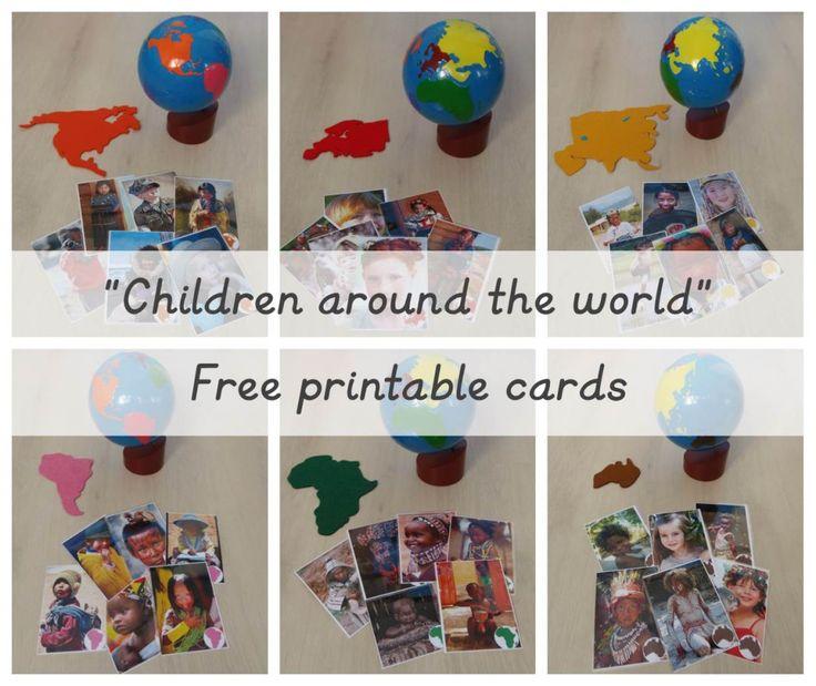 "Imprimible gratis: ""Niños alrededor del mundo"" – Free printable: ""Children around the world"""