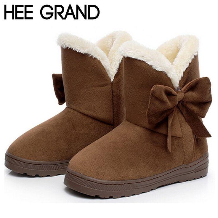 Femmes cheville Bottes de neige 4 couleurs Automne Hiver Chaussures Flock chaud Plus Size Euro Taille 35-42,marron,36
