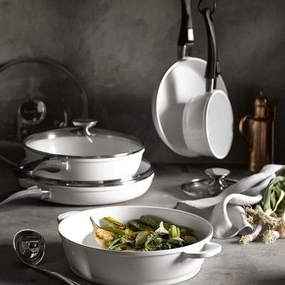 Berndes Vario Click Pearl )low-fat cooking) Ceramic Nonstick 9-Piece Cookware Set   made in Germany #williamssonoma