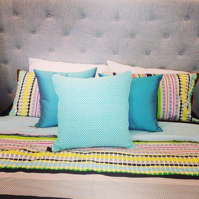 Grey Linen Bedhead & Kas Australia Bedlinen