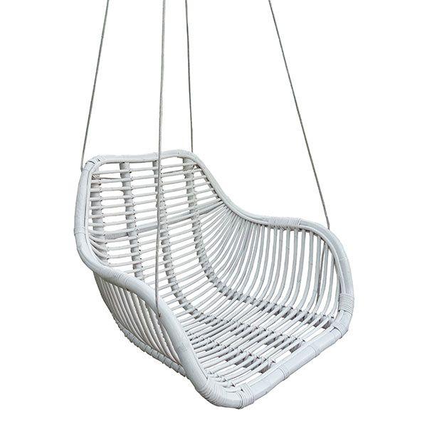 Hang Stoel Rotan.Rotan Hangstoel Fly Wit 66x65xh49 Cm Hangstoel Rotan Stoelen