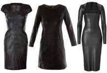 Модные и стильные кожаные платья в 2013 году |