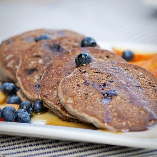 Blueberry buckwheat pancakes | Sweet Recipes: Breakfasts | Pinterest