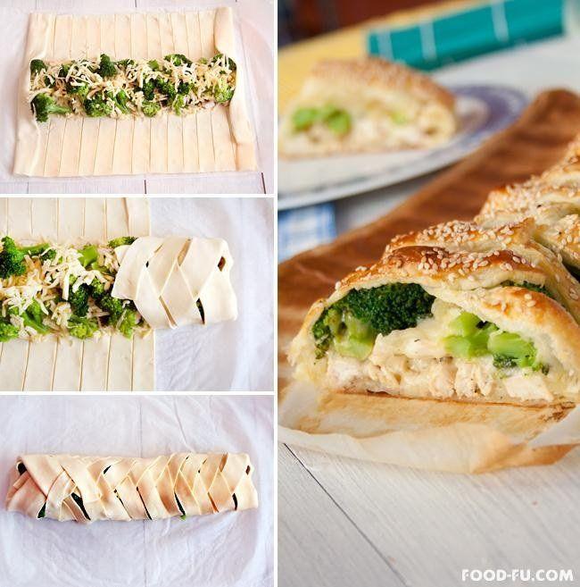 Pyszny i szybki przepis na strudel francuski z brokułami i serem...