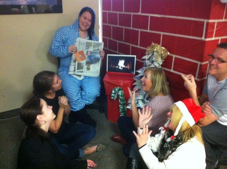 Courtney in her onesie reading an Xmas story around our warm fire. Thanks @BlackPressMedia