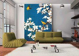 papier peint chinois personnalisable tapisserie numérique magnolia