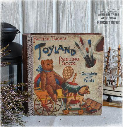 """Шкатулки ручной работы. Ярмарка Мастеров - ручная работа """"Toyland"""" книга-шкатулка. Handmade."""