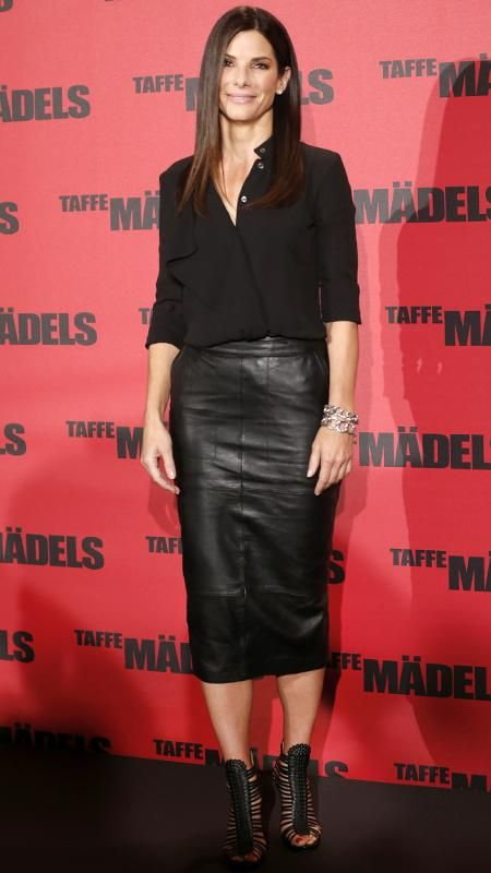 Celebrities over 40 in long skirts