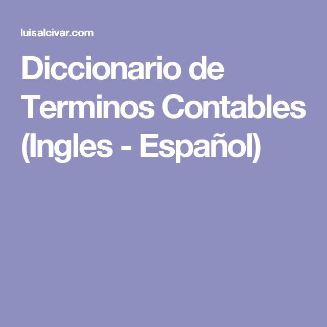 Diccionario de Terminos Contables (Ingles - Español)